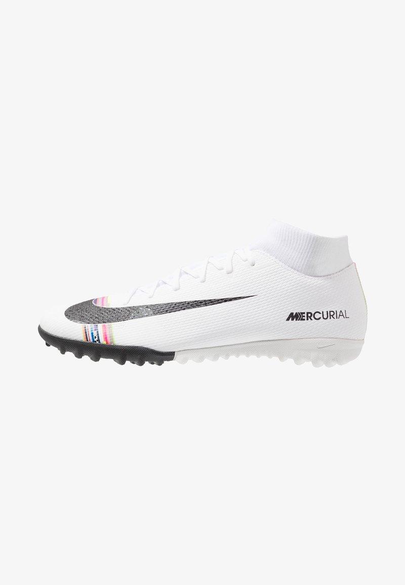 Nike Performance - ACADEMY CR7 TF - Fußballschuh Multinocken - white/black/pure platinum
