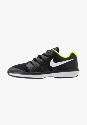 AIR ZOOM PRESTIGE - All court tennisskor - black/white/volt