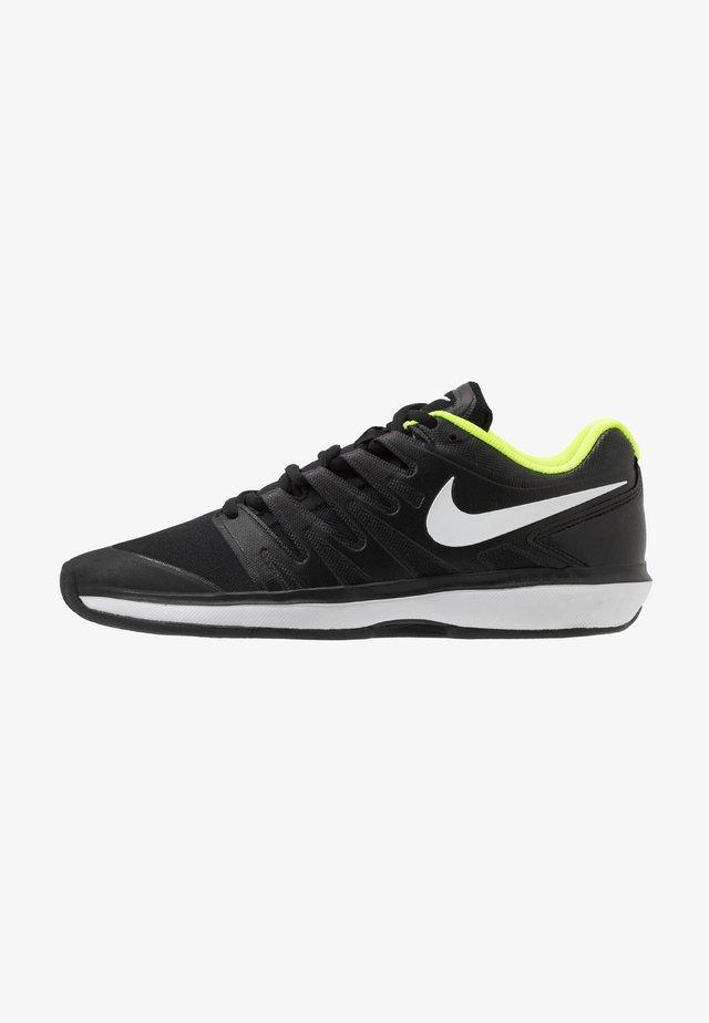 AIR ZOOM PRESTIGE CLAY - Tenisové boty na antuku - black/white/volt