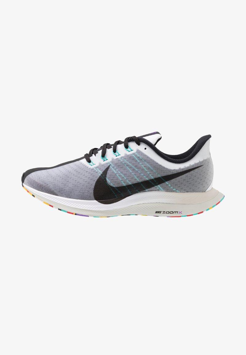 Nike Performance - ZOOM PEGASUS 35 TURBO - Neutrale løbesko - white/black/hyper jade/hyper grape
