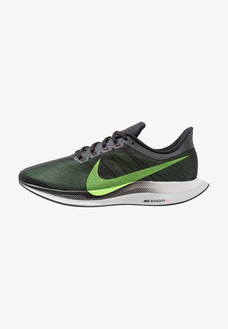 Nike Performance - ZOOM PEGASUS 35 TURBO - Neutral running shoes - black/lime blast/vast grey/laser fuchsia