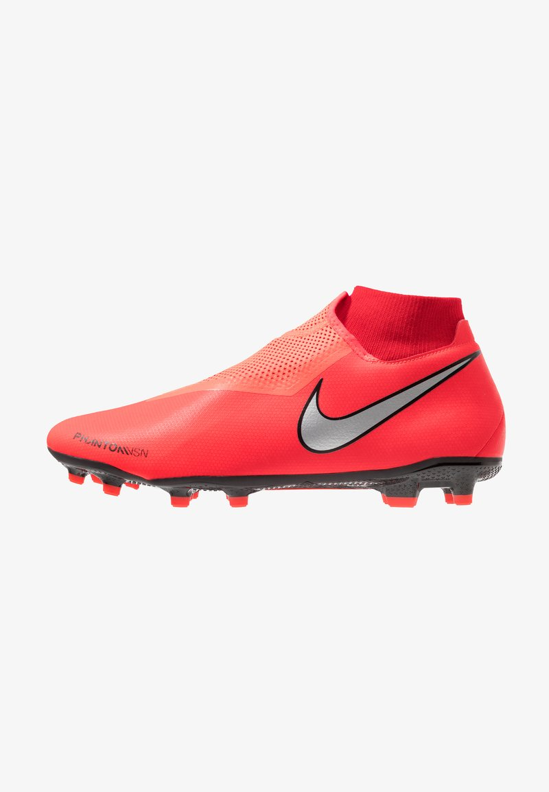 Nike Performance - PHANTOM OBRA 3 ACADEMY DF MG - Moulded stud football boots - bright crimson/metallic silver/university red/black