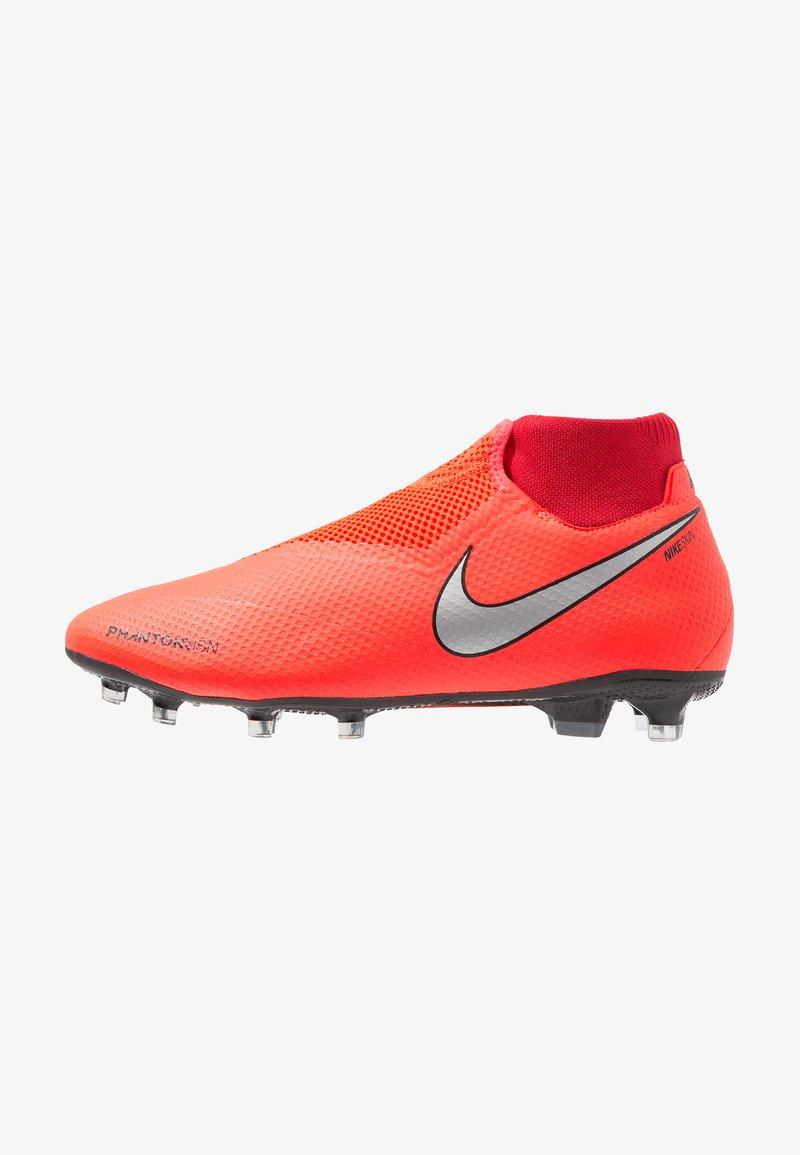 Nike Performance - PHANTOM OBRA 3 PRO DF FG - Fußballschuh Nocken - bright crimson/metallic silver/university red/black