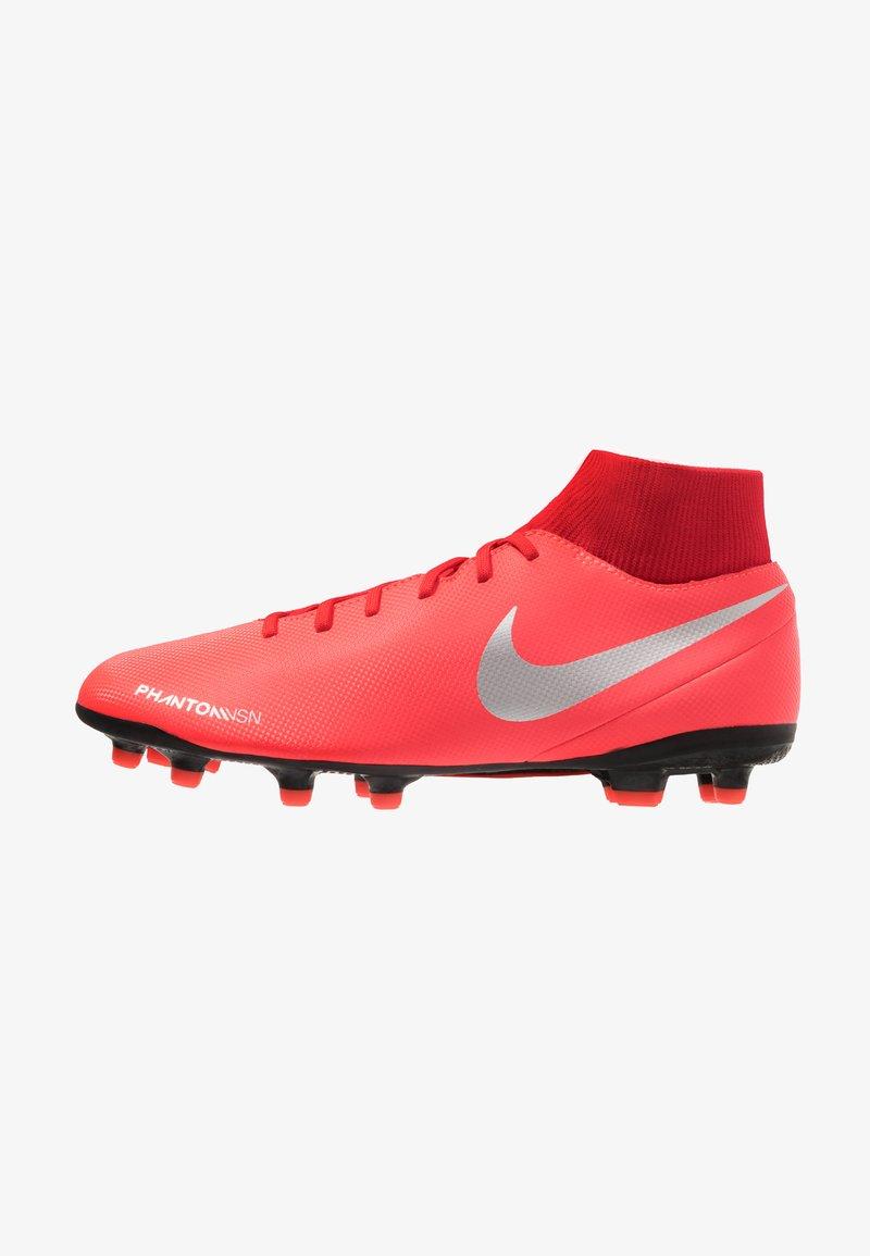 Nike Performance - PHANTOM OBRA 3 CLUB DF MG - Fußballschuh Nocken - bright crimson/metallic silver/university red/black