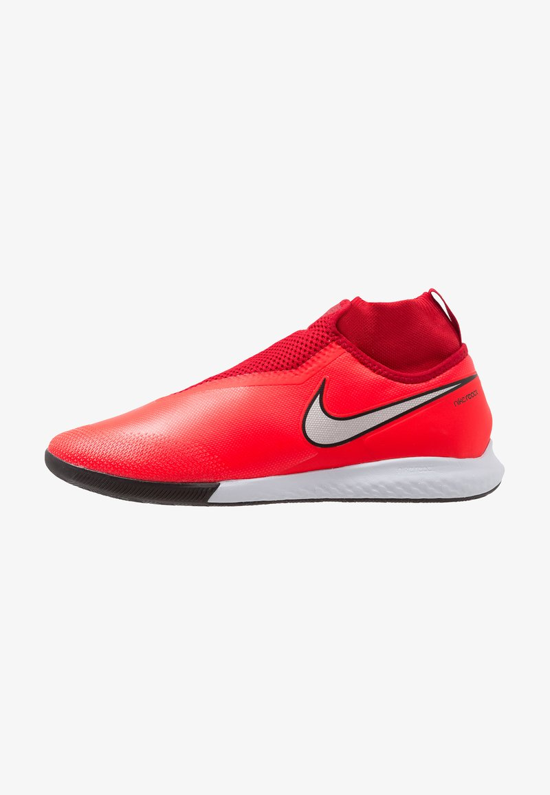 Nike Performance - PHANTOM REACT OBRA PRO IC - Fußballschuh Halle - bright crimson/metallic silver/university red/black