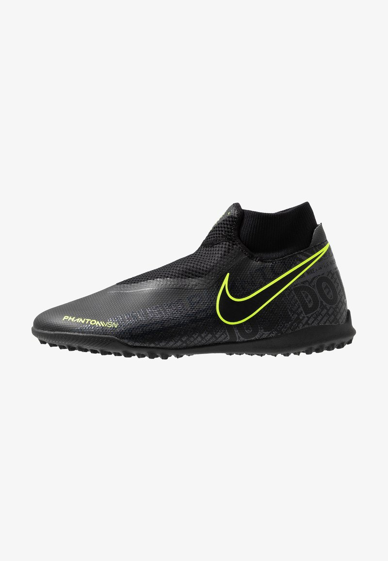 Nike Performance - PHANTOM OBRAX 3 ACADEMY DF TF - Chaussures de foot multicrampons - black/volt