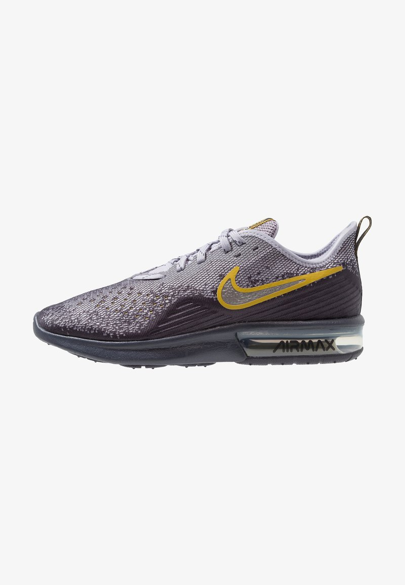 Nike Performance - AIR MAX SEQUENT 4 - Neutral running shoes - gridiron/metallic pewter/provence purple/white/peat moss