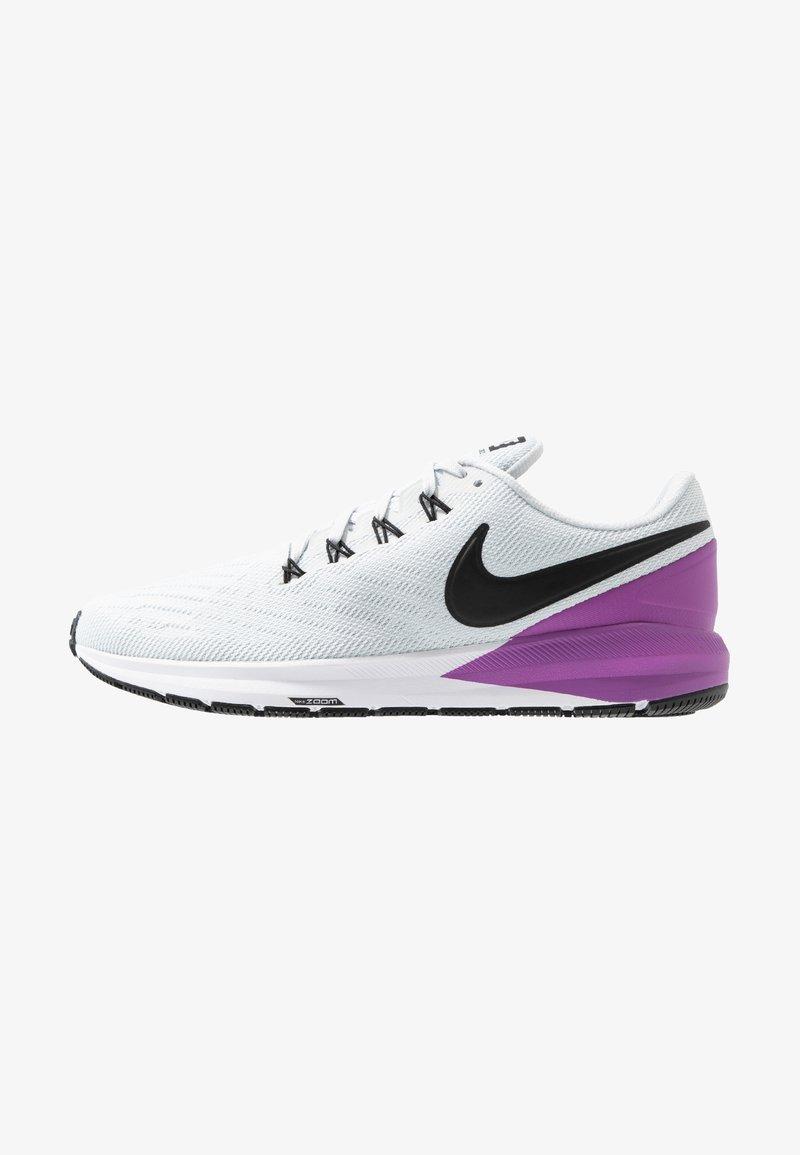 Nike Performance - AIR ZOOM STRUCTURE  - Laufschuh Stabilität - pure platinum/black/hyper violet/white
