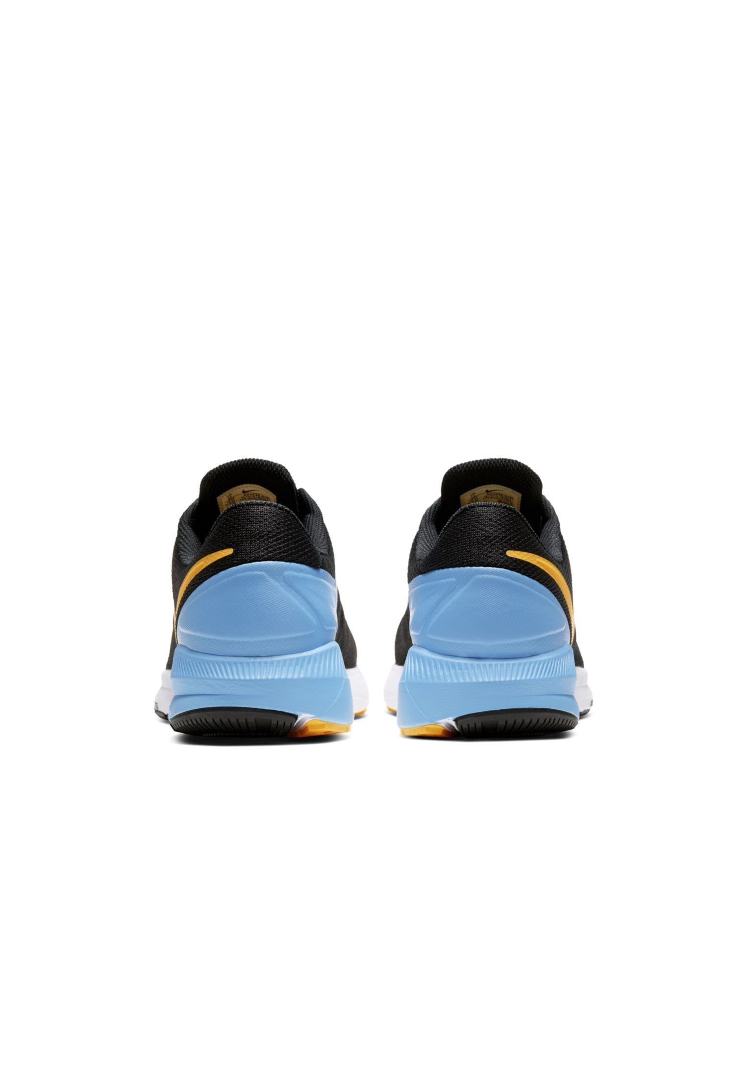 Nike Performance AIR ZOOM STRUCTURE 22 - Stabilty running shoes - black/university blue/white/laser orange