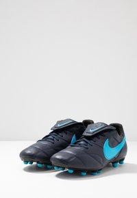 Nike Performance - THE PREMIER II FG - Voetbalschoenen met kunststof noppen - obsidian/light current blue/black - 2
