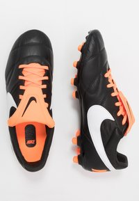 Nike Performance - NIKE PREMIER II FG FUBBALLSCHUH FUR NORMALEN RASEN - Voetbalschoenen met kunststof noppen - black/white/total orange - 1