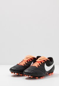 Nike Performance - NIKE PREMIER II FG FUBBALLSCHUH FUR NORMALEN RASEN - Voetbalschoenen met kunststof noppen - black/white/total orange - 2