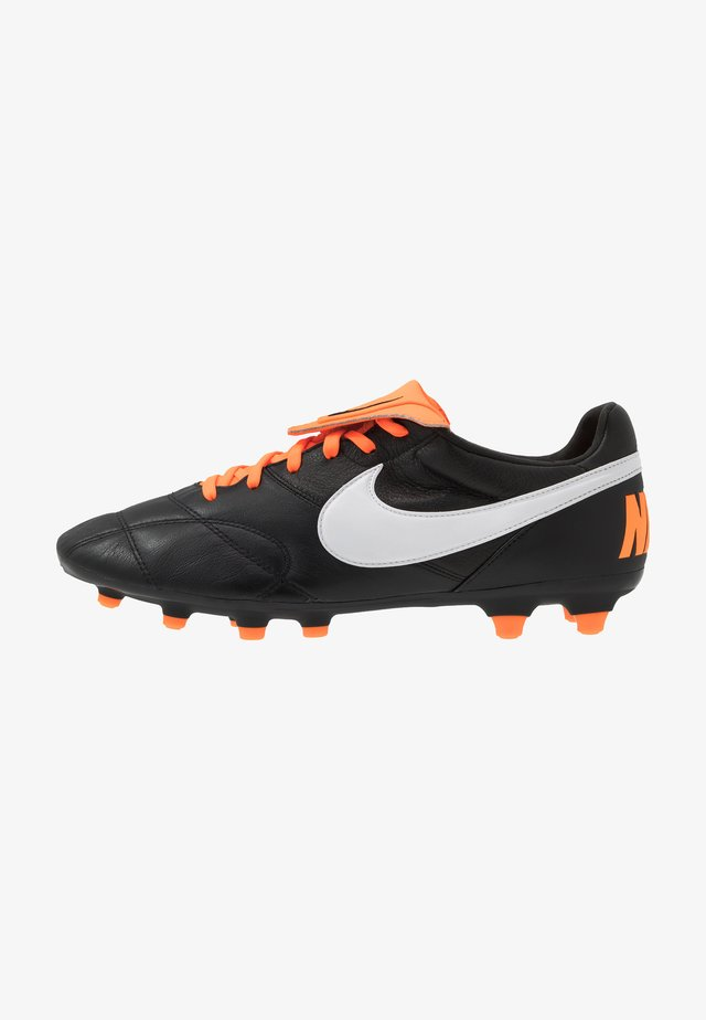 NIKE PREMIER II FG FUBBALLSCHUH FUR NORMALEN RASEN - Moulded stud football boots - black/white/total orange