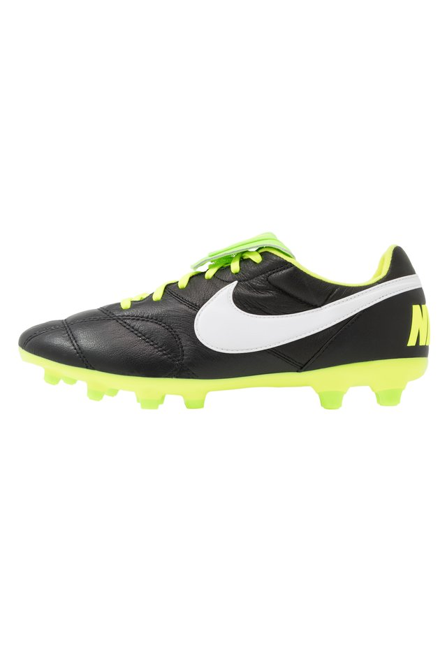 NIKE PREMIER II FG FUBBALLSCHUH FUR NORMALEN RASEN - Moulded stud football boots - black/white/volt/electric green