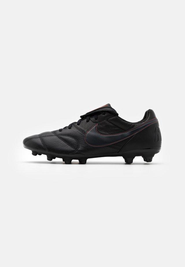 THE PREMIER II FG - Voetbalschoenen met kunststof noppen - black/dark smoke grey/chile red