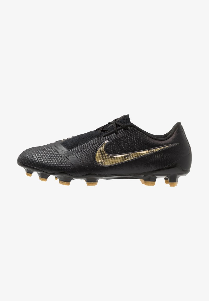 Nike Performance - PHANTOM ELITE FG - Fußballschuh Nocken - black/metallic vivid gold
