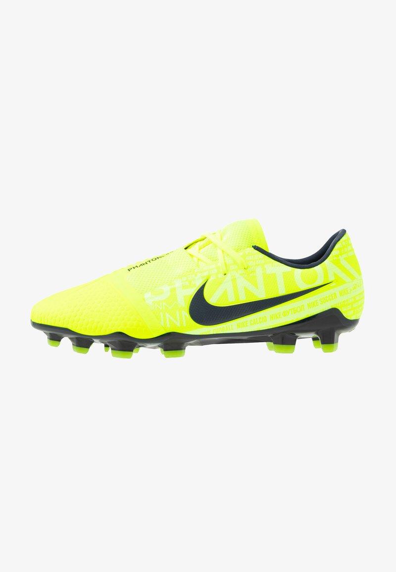 Nike Performance - PHANTOM PRO FG - Fußballschuh Nocken - volt/obsidian/barely volt