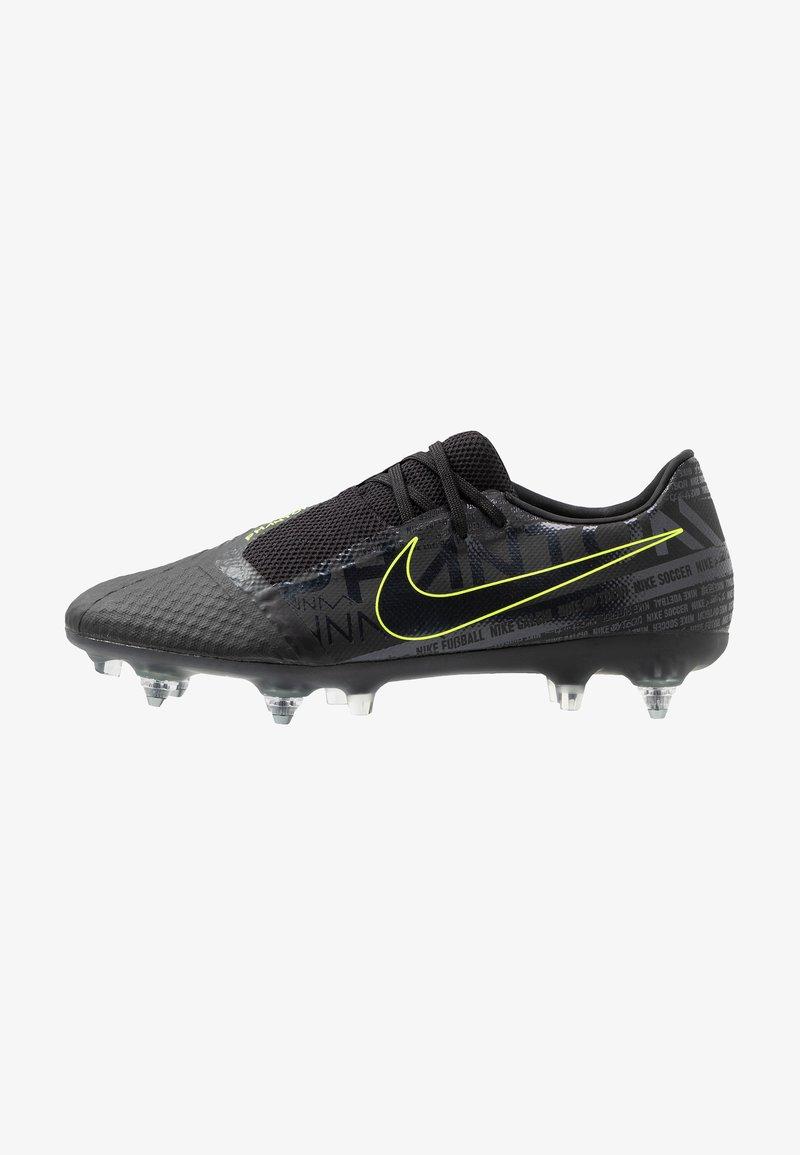 Nike Performance - PHANTOMVNM ACADEMY SG-PRO ANTI-CLOG TRACTION - Nurmikengät - black/volt