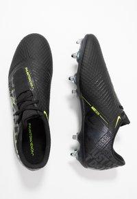 Nike Performance - PHANTOMVNM ACADEMY SG-PRO ANTI-CLOG TRACTION - Nurmikengät - black/volt - 1