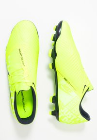 Nike Performance - PHANTOM  ACADEMY FG - Voetbalschoenen met kunststof noppen - volt/obsidian/volt/barely volt - 1