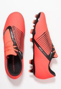 Nike Performance - PHANTOM  ACADEMY FG - Voetbalschoenen met kunststof noppen - bright crimson/black/metallic silver - 1