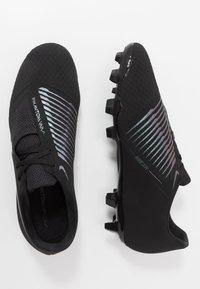 Nike Performance - PHANTOM  ACADEMY FG - Voetbalschoenen met kunststof noppen - black/metallic vivid gold - 1