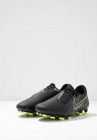 Nike Performance - PHANTOM  ACADEMY FG - Voetbalschoenen met kunststof noppen - black/volt - 2