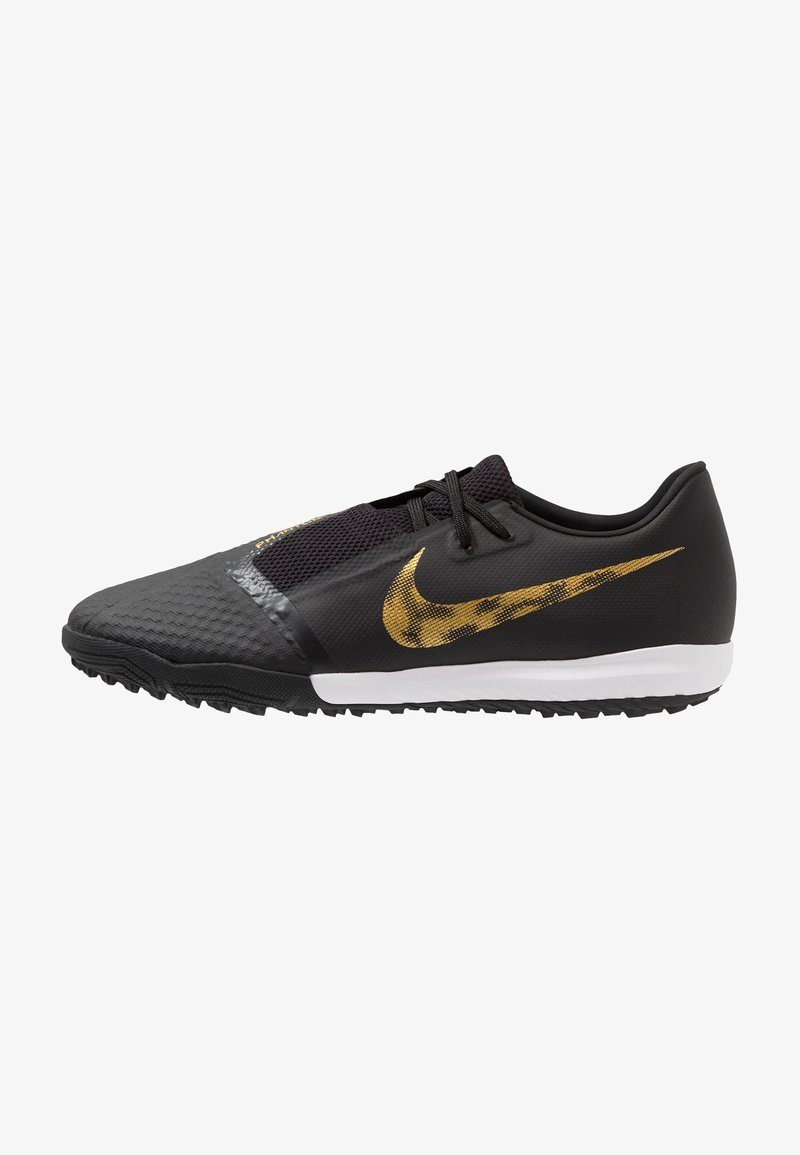 Nike Performance - PHANTOM ACADEMY TF - Fußballschuh Multinocken - black/metallic vivid gold