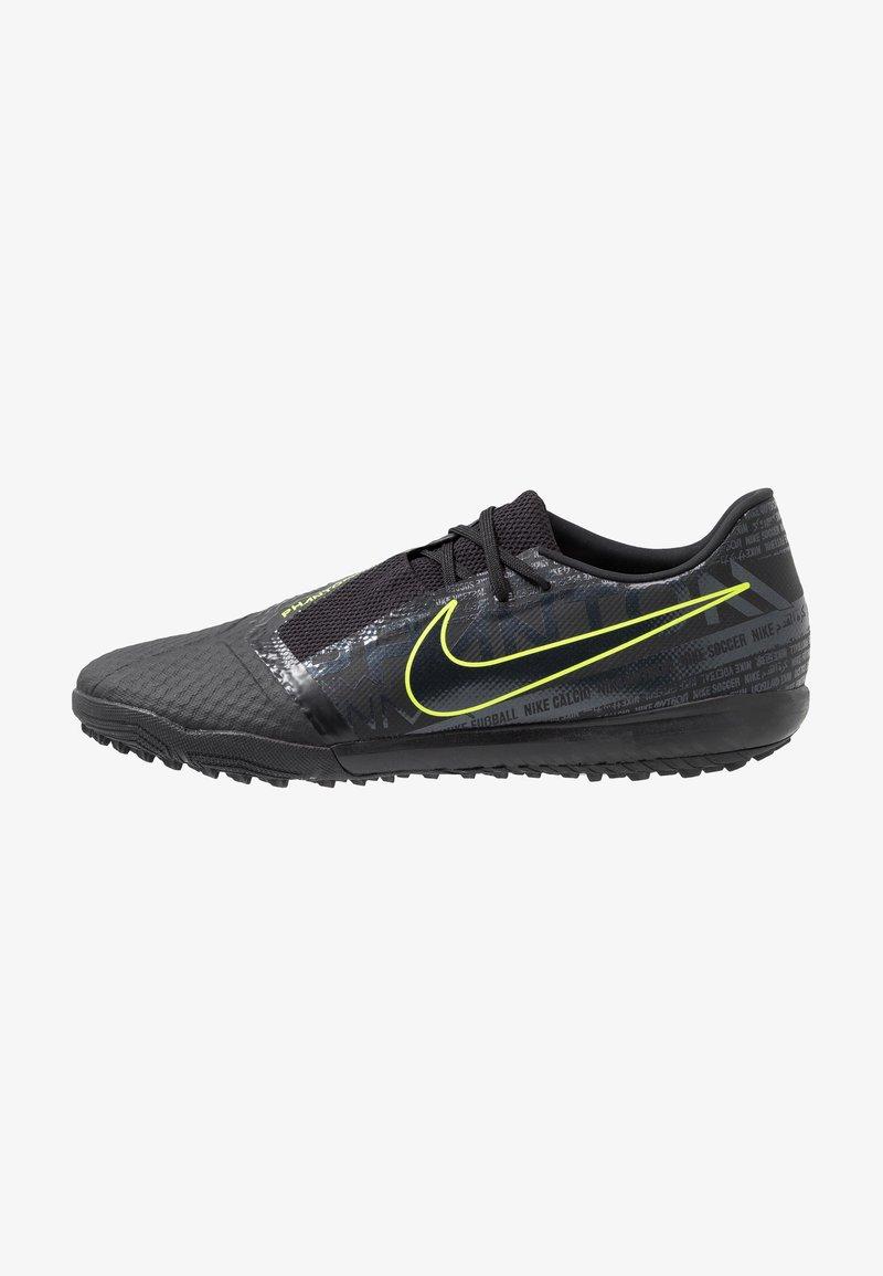 Nike Performance - PHANTOM ACADEMY TF - Astro turf trainers - black/volt