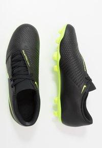 Nike Performance - PHANTOM CLUB FG - Chaussures de foot à crampons - black/volt - 1