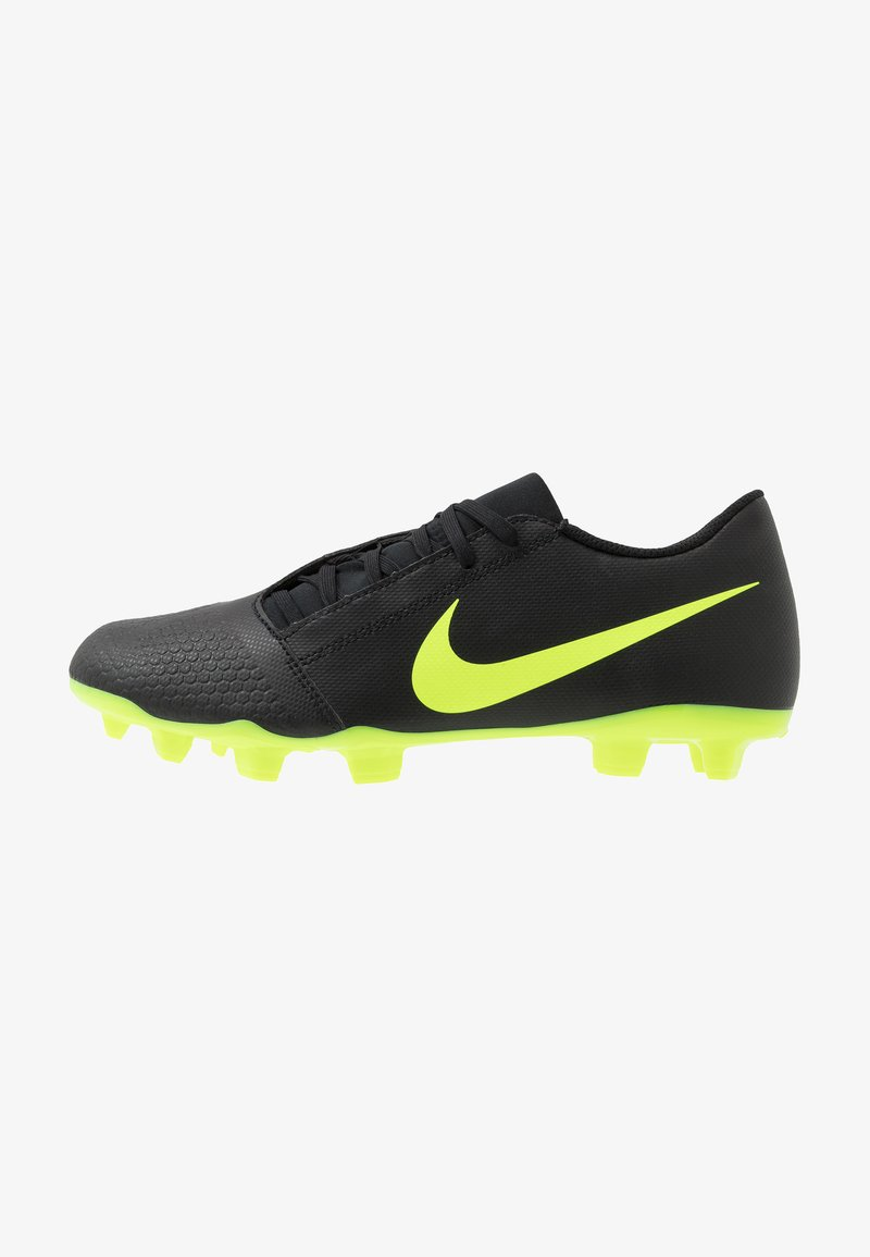 Nike Performance - PHANTOM CLUB FG - Chaussures de foot à crampons - black/volt