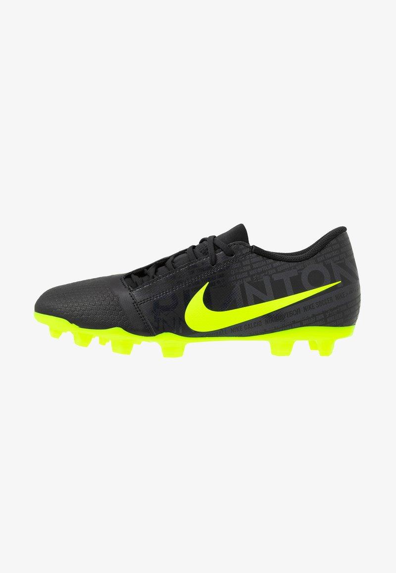 Nike Performance - PHANTOM CLUB FG - Moulded stud football boots - black/volt