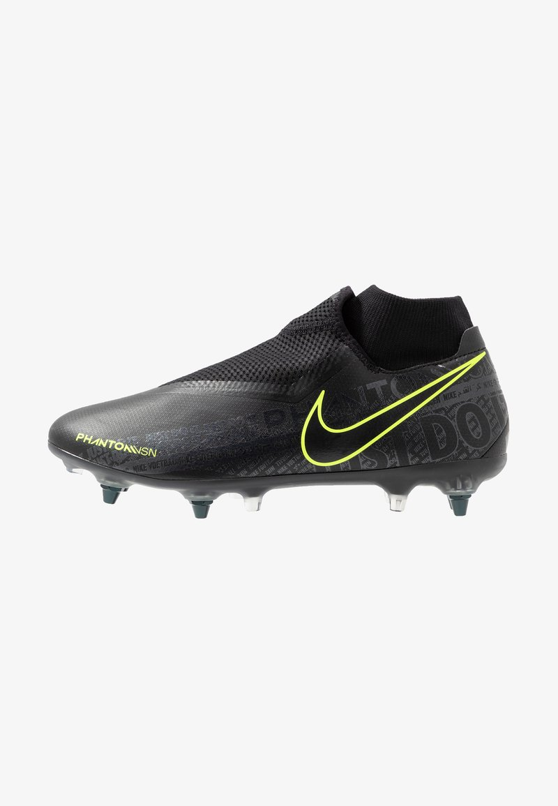 Nike Performance - PHANTOM VSN ACADEMY DF SGPRO AC - Screw-in stud football boots - black/volt