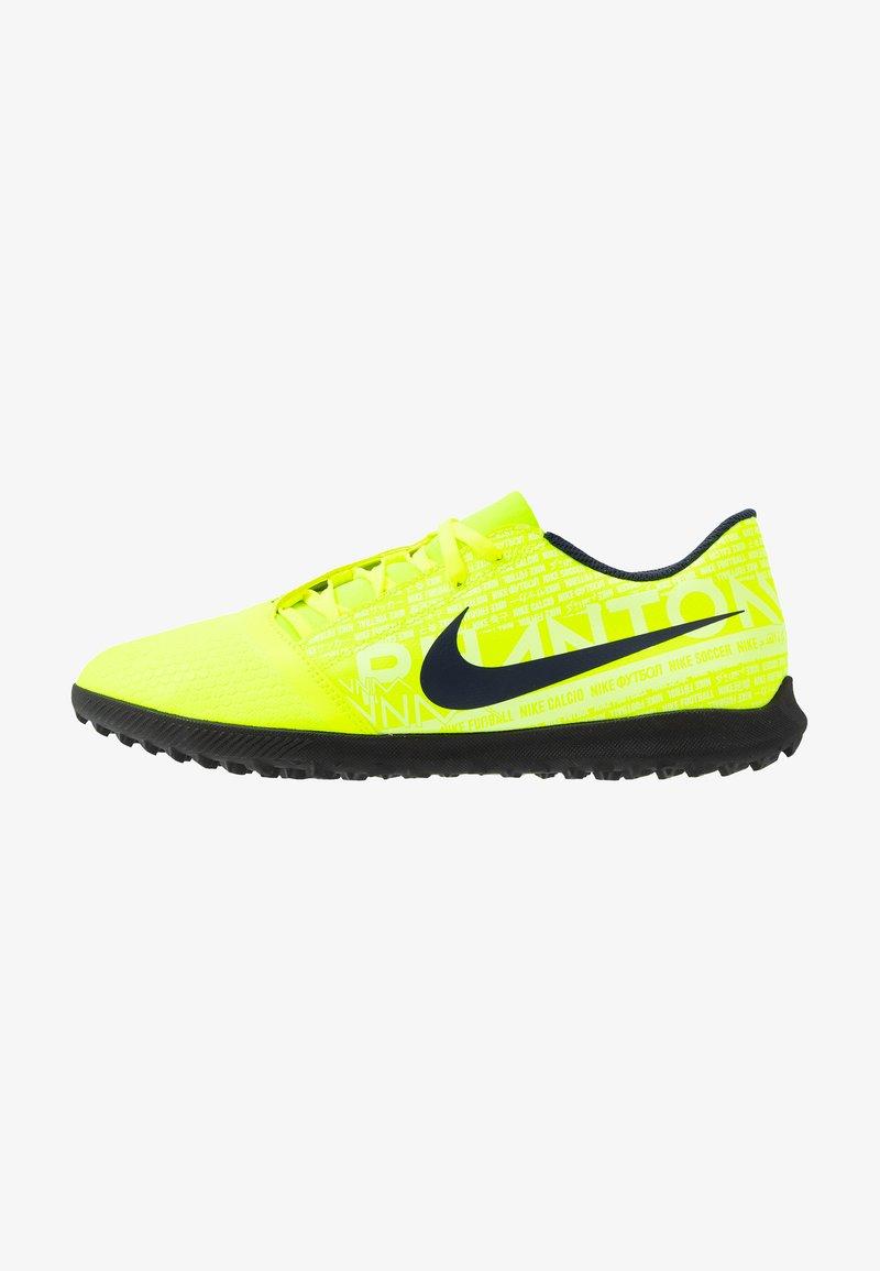 Nike Performance - PHANTOM CLUB TF - Fußballschuh Multinocken - volt/obsidian/barely volt