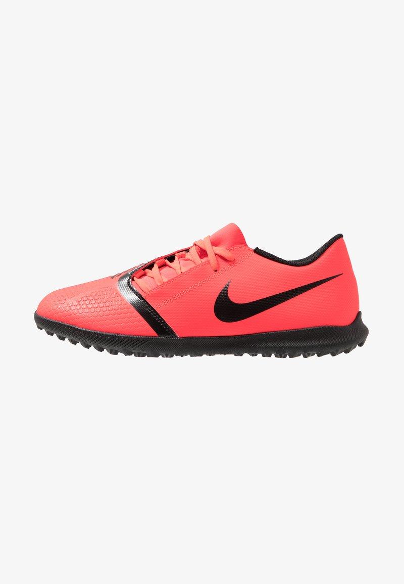 Nike Performance - PHANTOM CLUB TF - Astro turf trainers - bright crimson/black/metallic silver