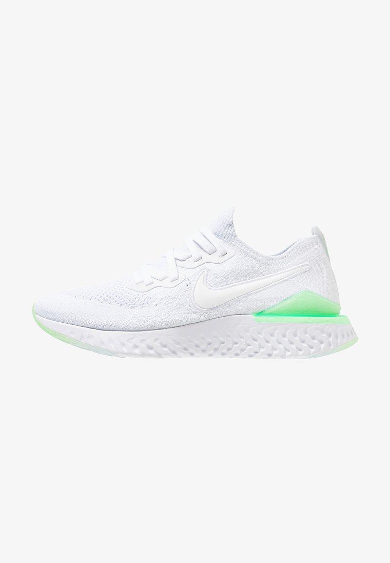 Nike Performance - EPIC REACT FLYKNIT 2 - Neutrale løbesko - white/lime blast