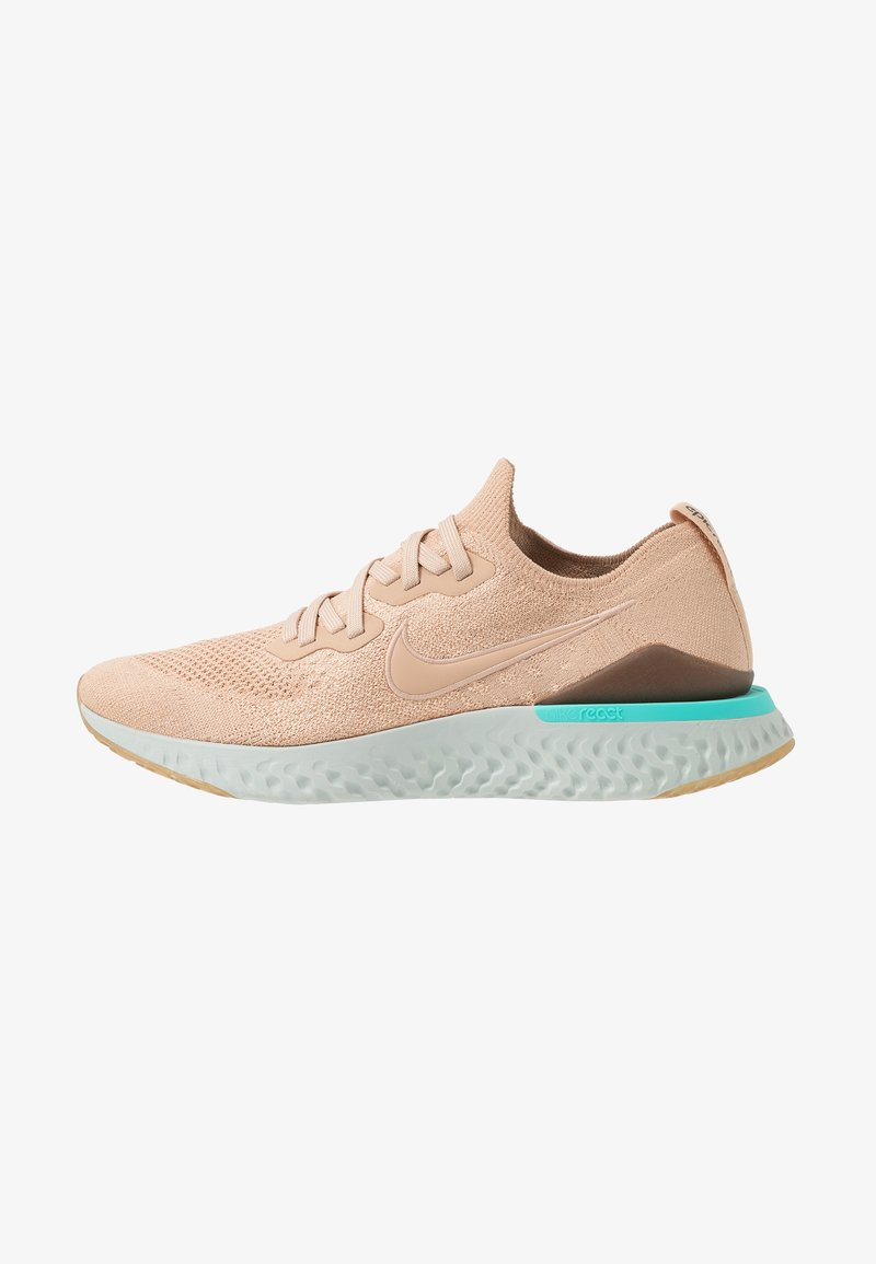 Nike Performance - EPIC REACT FLYKNIT 2 - Juoksukenkä/neutraalit - bio beige/aurora green/black