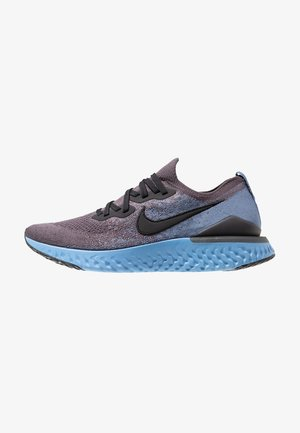 EPIC REACT FLYKNIT 2 - Neutrala löparskor - thunder grey/black/ocean fog/ashen slate/light blue