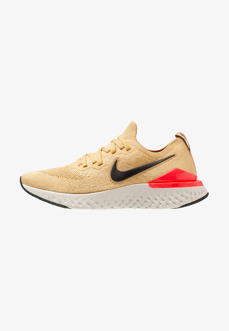 Nike Performance - EPIC REACT FLYKNIT 2 - Zapatillas de running neutras - club gold/black/red orbit/desert orange