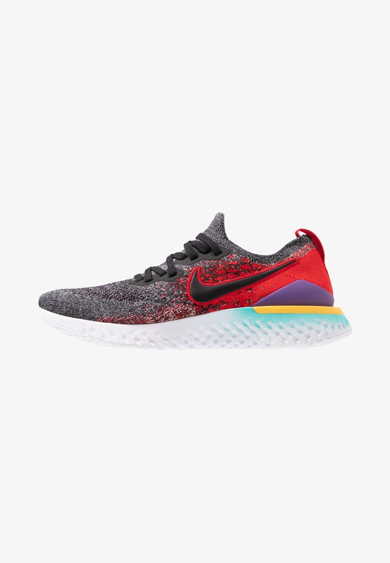 Nike Performance - EPIC REACT FLYKNIT 2 - Neutrale løbesko - black/hyper jade/university red