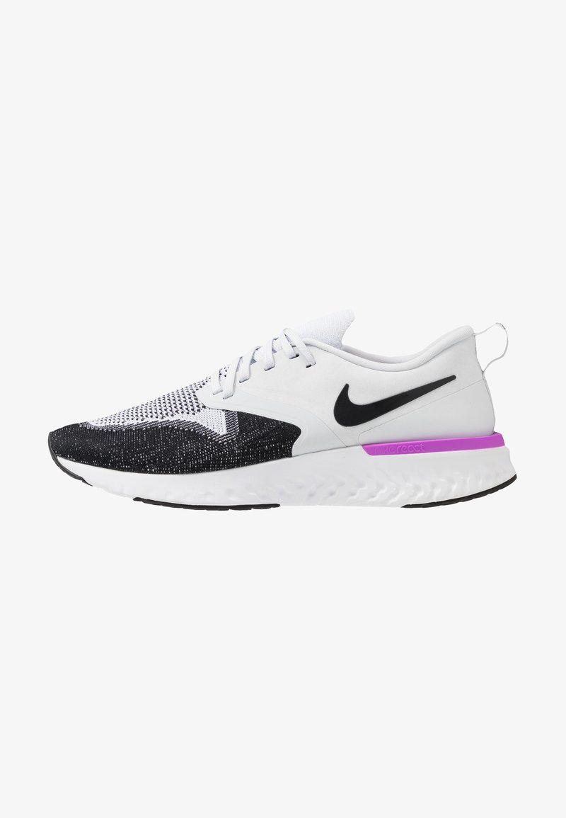 Nike Performance - ODYSSEY REACT FLYKNIT - Laufschuh Neutral - pure platinum/black/white/hyper violet