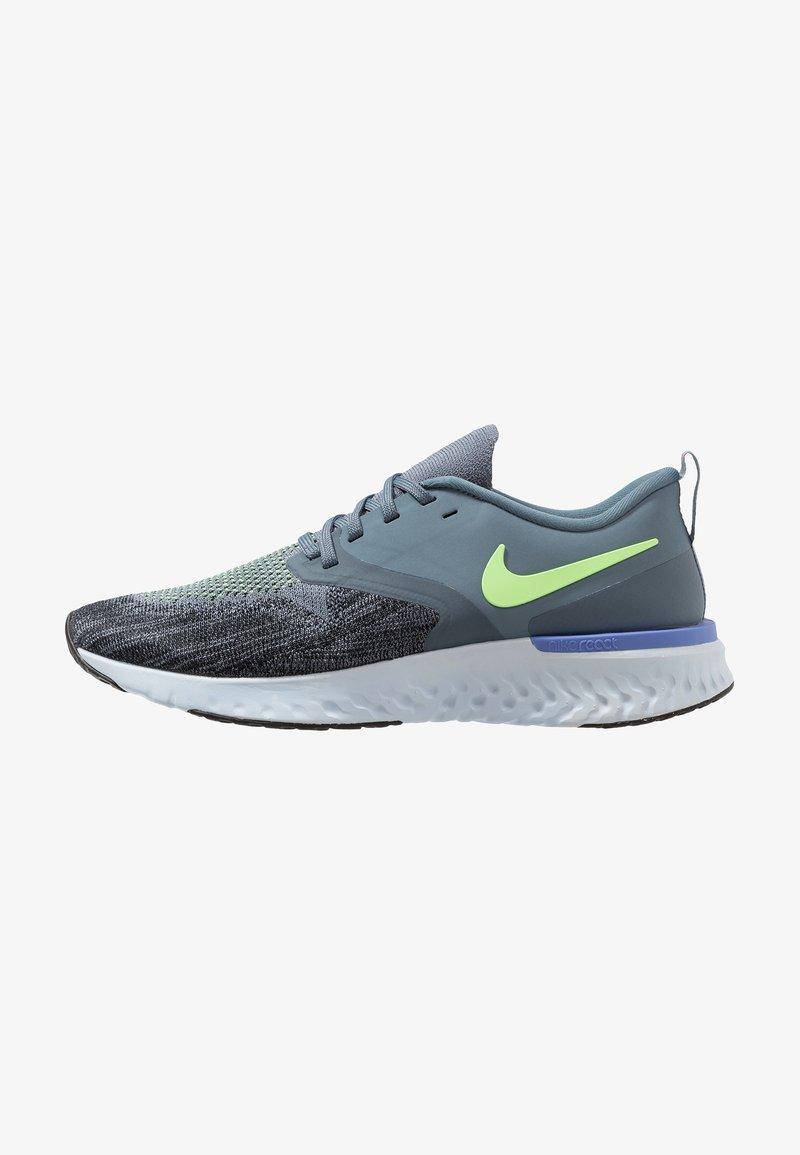 Nike Performance - ODYSSEY REACT FLYKNIT - Zapatillas de running neutras - armory blue/black/half blue/lime blast/leche blue