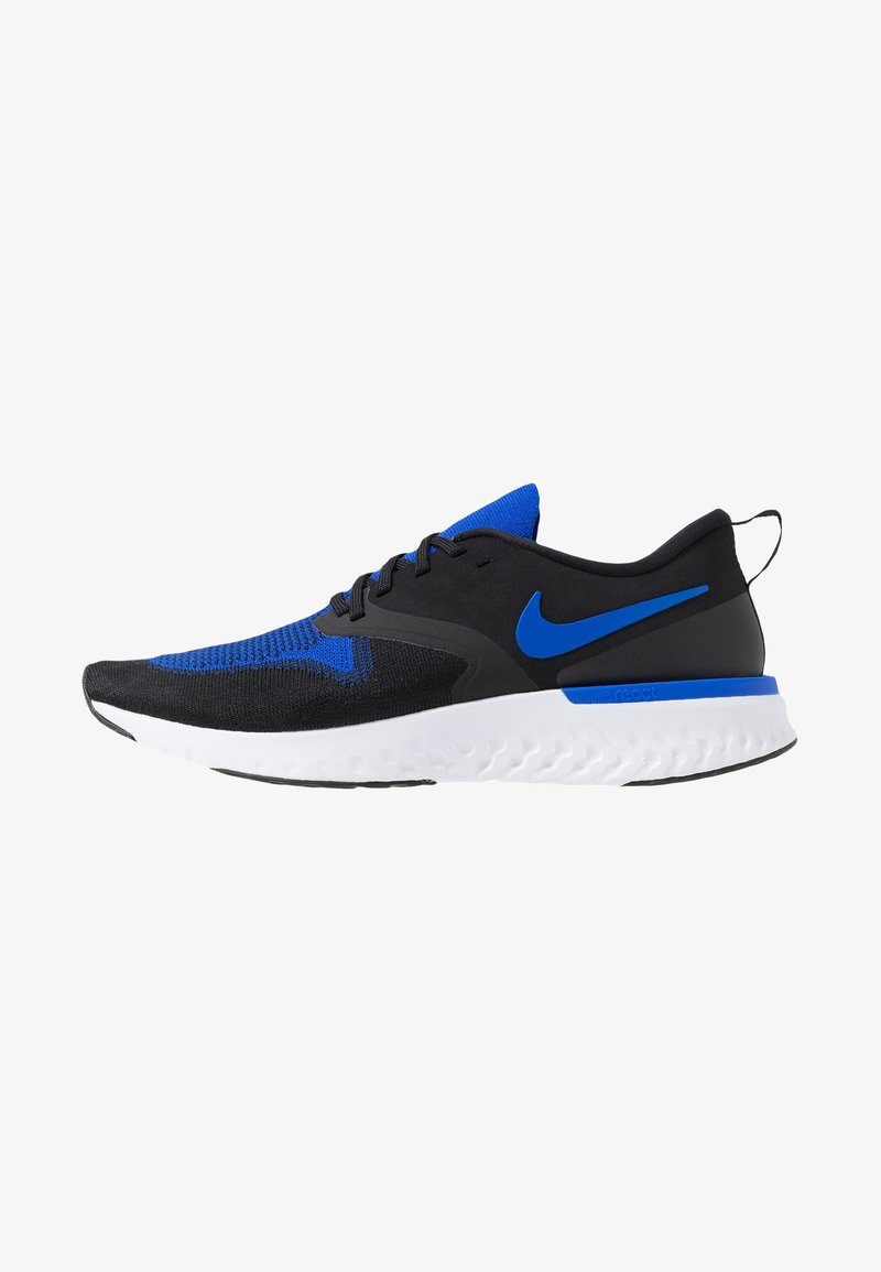 Nike Performance - ODYSSEY REACT FLYKNIT - Laufschuh Neutral - black/racer blue/white