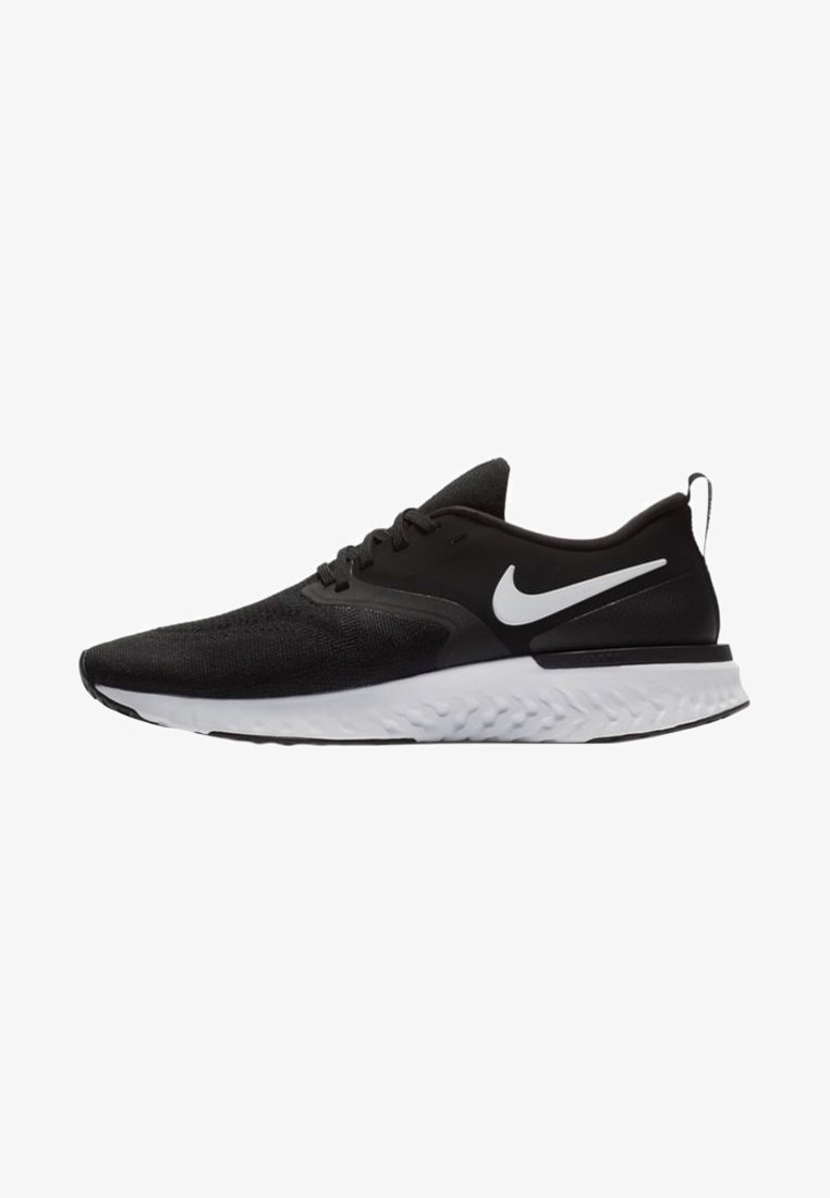 Nike Performance - ODYSSEY REACT FLYKNIT - Neutral running shoes - black/white