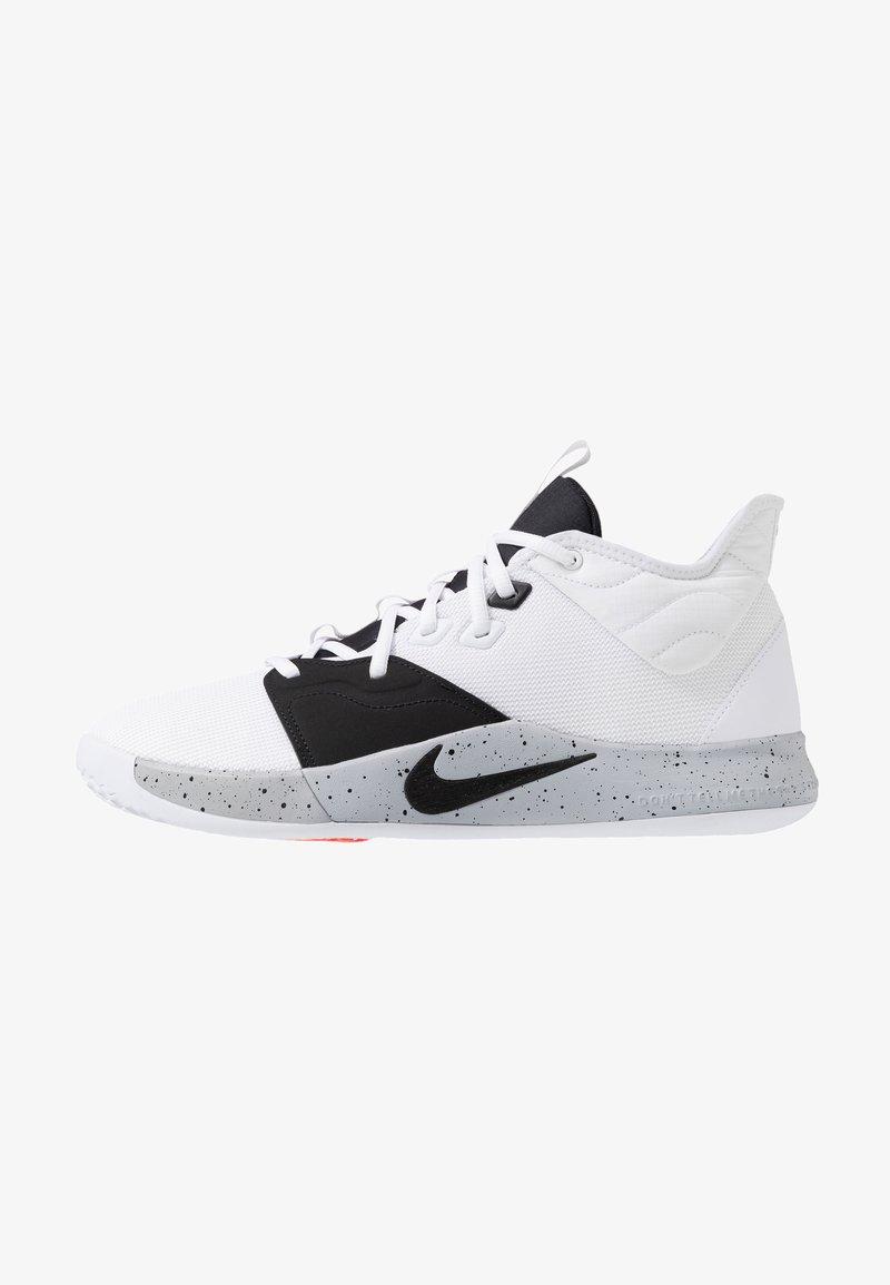 Nike Performance - PG3 - Basketballschuh - white/black/wolf grey