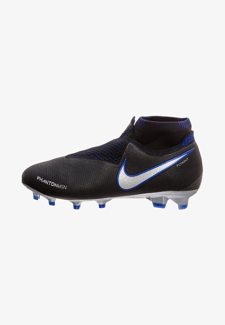 Nike Performance - PHANTOM VISION ELITE  - Fußballschuh Nocken - black/metallic silver/racer blue