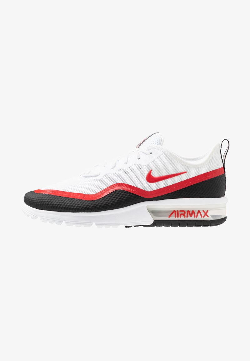 Nike Performance - AIR MAX SEQUENT  - Laufschuh Neutral - white/university red/black/wolf grey