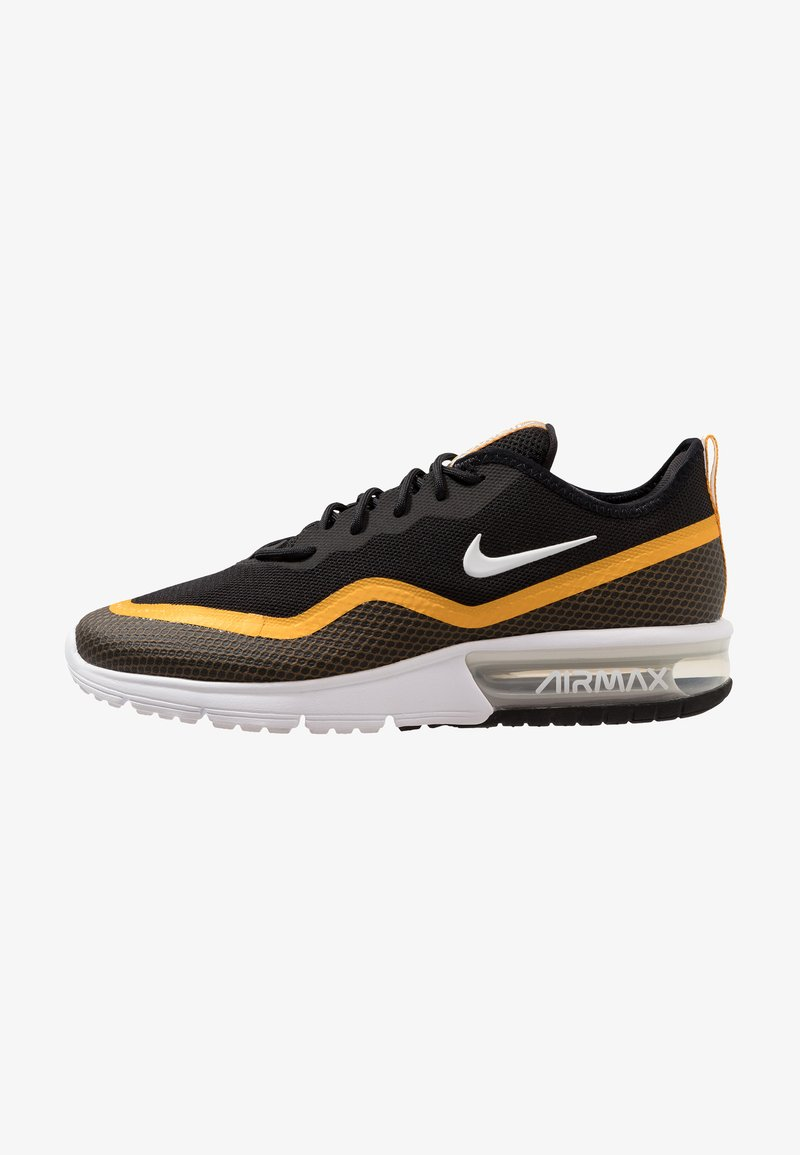 Nike Performance - AIR MAX SEQUENT  - Neutral running shoes - black/white/university gold