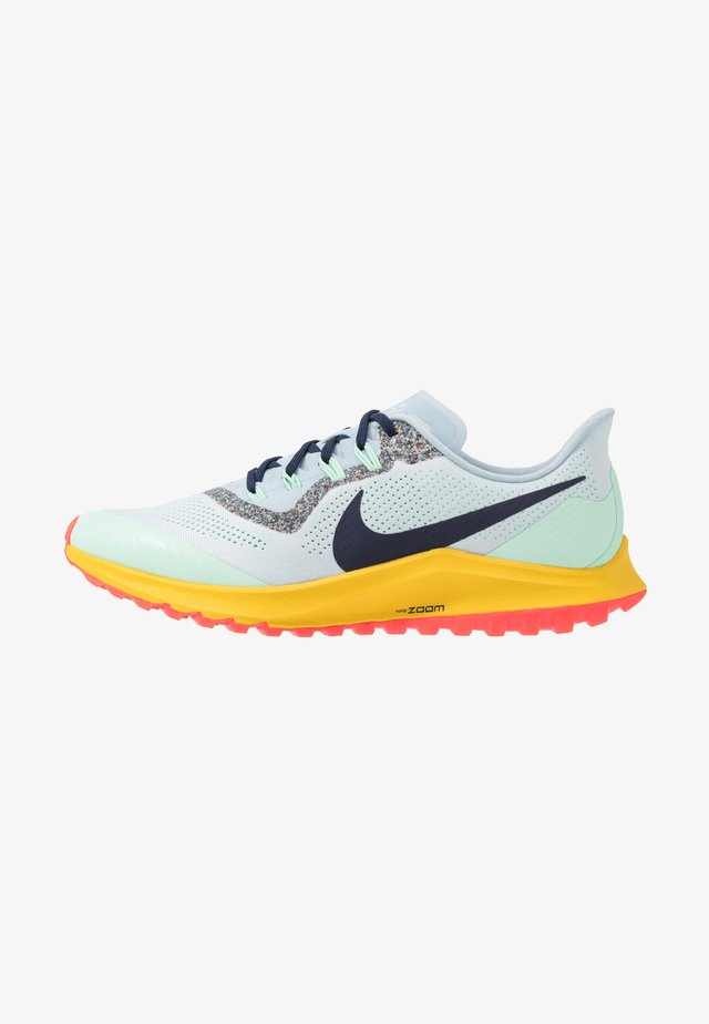 AIR ZOOM PEGASUS 36  - Trail running shoes - aura/blackened blue/light armory blue/mint foam/speed yellow/laser crimson