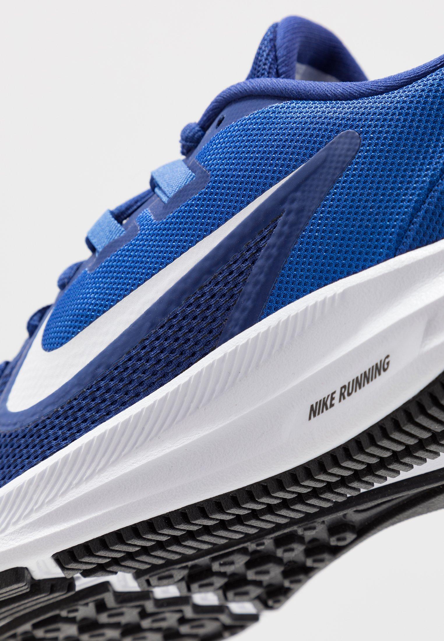 Nike Performance DOWNSHIFTER 9 - Obuwie do biegania treningowe - deep royal blue/white/game royal/black